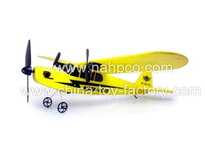 KD041881 - EPP Piper J-3 Cub 2CH 2.4G Remote Control Glider With Flash Lights & Gyro